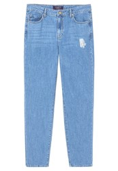 Mango Violeta By Cigar Relaxed Fit Jeans Medium Blue Dark Blue Denim