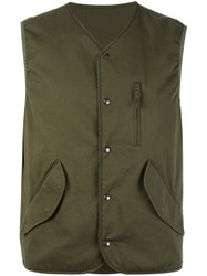 Aspesi Flap Pocket Gilet Green