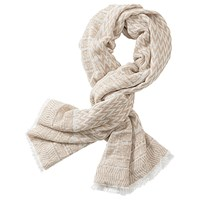 Betty Barclay Zig Zag Scarf Taupe White
