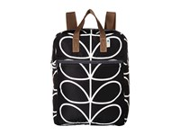 Orla Kiely Linear Stem Packaway Backpack Black Cream Backpack Bags 148c556f38afe