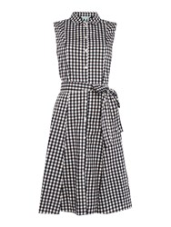 Dickins And Jones Gingham Shirt Dress With Waist Tie Check