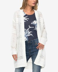 Roxy Juniors' Open Front Cardigan Natural