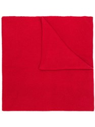 Holland And Holland Long Cashmere Scarf Red