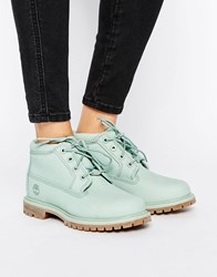Timberland Nellie Chukka Double Mint Green Lace Up Flat Boots Silt Green Waterbuck