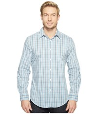 Perry Ellis Long Sleeve Multicolor Check Shirt Bright White Men's Clothing