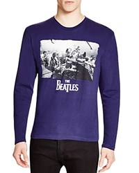 Bravado Beatles Recording Tee Heathered Navy
