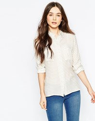 B.Young Striped Shirt Off White Blue