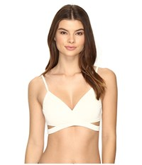 Vince Camuto Fiji Solids Wrap Bikini Top Shell Women's Swimwear Beige