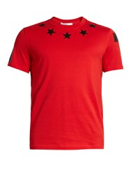 Givenchy Cuban Fit Star Applique T Shirt Red Multi