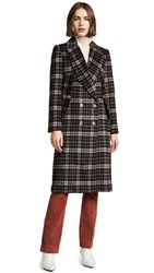 C Meo Collective Magnets Coat Black Check