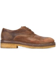Pantanetti 'Bowling' Lace Up Shoes Brown