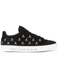 Philipp Plein Low Top Sneakers Men Calf Leather Leather Rubber 42 Black