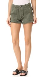 Hudson Mika Military Shorts Infantry Green
