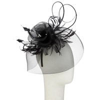 John Lewis Diamante Fascinator Black