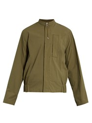 Oamc Jungle Long Sleeved Cotton Shirt Khaki