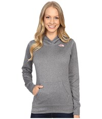 The North Face Lfc Fave Hoodie Tnf Medium Grey Heather Neon Peach Women's Sweatshirt Gray