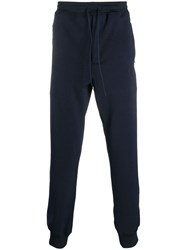 Y 3 Zipped Track Trousers Blue