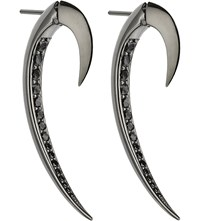 Shaun Leane Tusk Sterling Silver And Black Rhodium Earrings