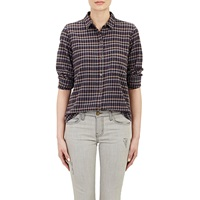 Slim Boy' Shirt Airfield Brown Plaid