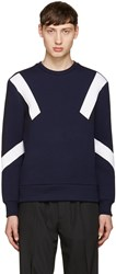 Neil Barrett Navy Retro Modernist Pullover