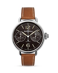 Bell And Ross Ww1 Chronographe Monopoussoir Heritage Watch 45Mm Black Brown