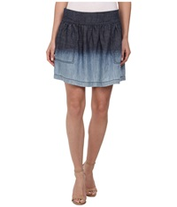 Michael Stars Linen Denim Tencel Skirt Ombre Women's Skirt Gold