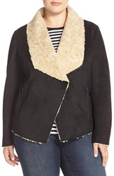Plus Size Women's Bernardo Faux Shearling Jacket