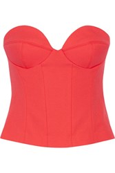 Chalayan Signature Stretch Crepe Bustier Top Red