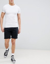 Tommy Jeans Freddy Basic Straight Fit Chino Shorts In Black Black