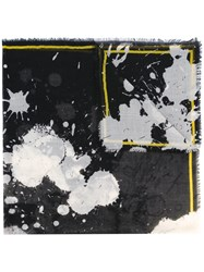Haider Ackermann Splatter Print Scarf Women Silk One Size Black