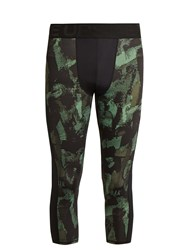 The Upside Sketchy Camouflage Print Performance Leggings Green Multi