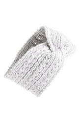 Bp. Cable Knit Head Wrap Grey Light Grey