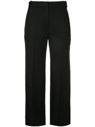 Vilshenko Cropped Trousers Cotton Polyester Wool Black