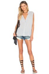Bella Dahl Folded Yoke Shirt Gray