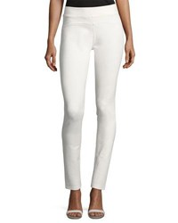 Dolce Cabo Solid Stretch Crepe Pull On Pants Ivory