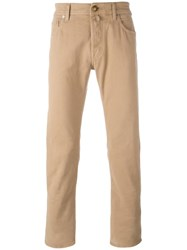 Jacob Cohen Straight Leg Jeans Nude Neutrals
