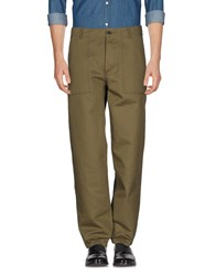 Maison Kitsune Casual Pants Military Green