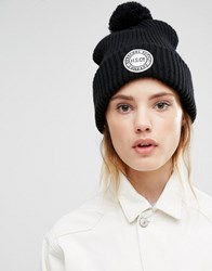 Herschel Knitted Pom Beanie In Black Black