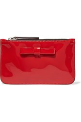 Marni Patent Leather Clutch Red