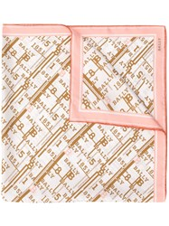 Bally Logo Embroidered Scarf Pink