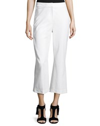 Kate Spade Cropped Flare Stretch Pants Fresh White
