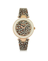 Versace Versus Sertie Animal Print Women's Watch Pink
