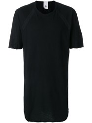 Lost And Found Rooms Taped T Shirt Cotton Linen Flax Black