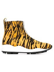 Opening Ceremony Tiger Print Ankle Boots Yellow And Orange