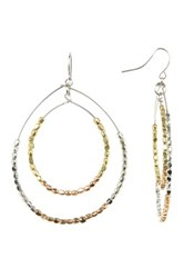 Spring Street Mixed Metal Layered Teardrop Hoop Earrings
