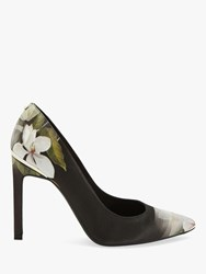 Ted Baker Melnip Floral Stiletto Heel Court Shoes Black