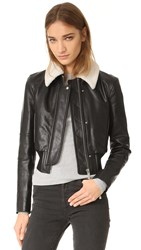 Helmut Lang Leather Jacket With Detachable Collar Black