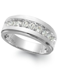 Macy's Men's Nine Stone Diamond Ring In 10K White Gold 1 2 Ct. T.W.