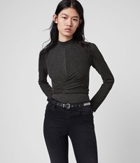 Allsaints Veronika Top Charcoal Grey