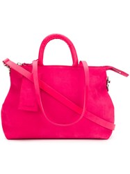 Marsell Large Tote Leather Suede Pink Purple